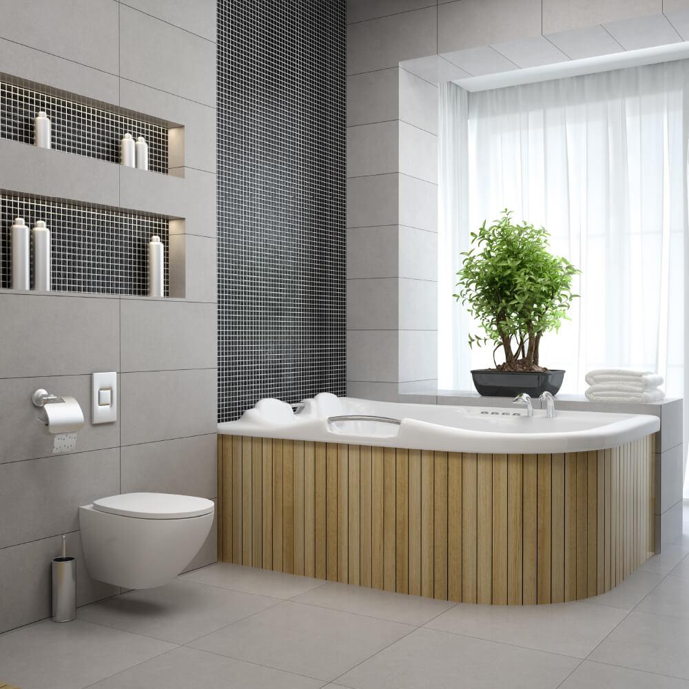 Case / BadDesign Aarhus - badeværelses indretning, badekar, trends