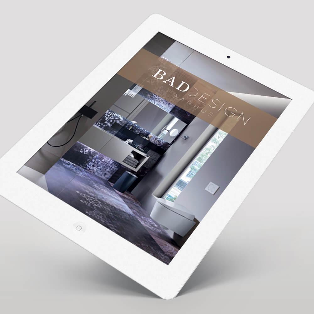Case / BadDesign Aarhus - badeværelses indretning / Online markedsføring - ebog