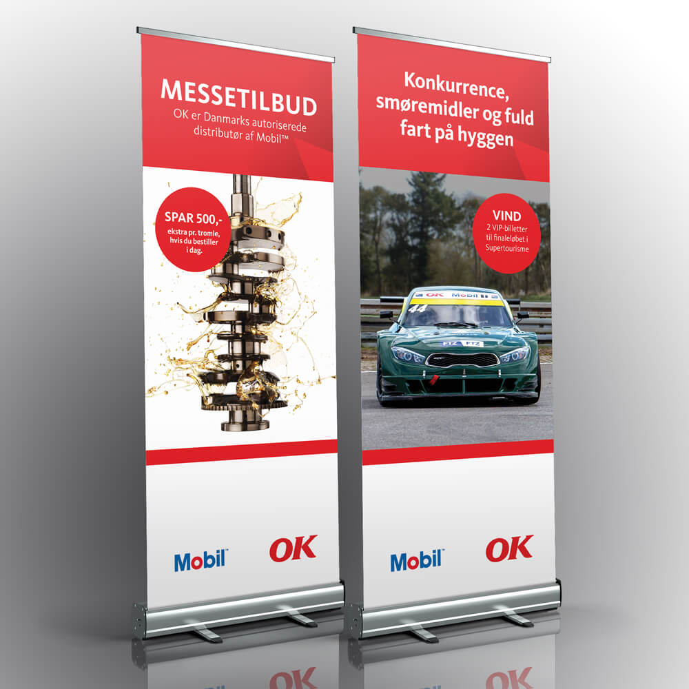 Case / OK - Benzin / Tryksager - pull-up banner