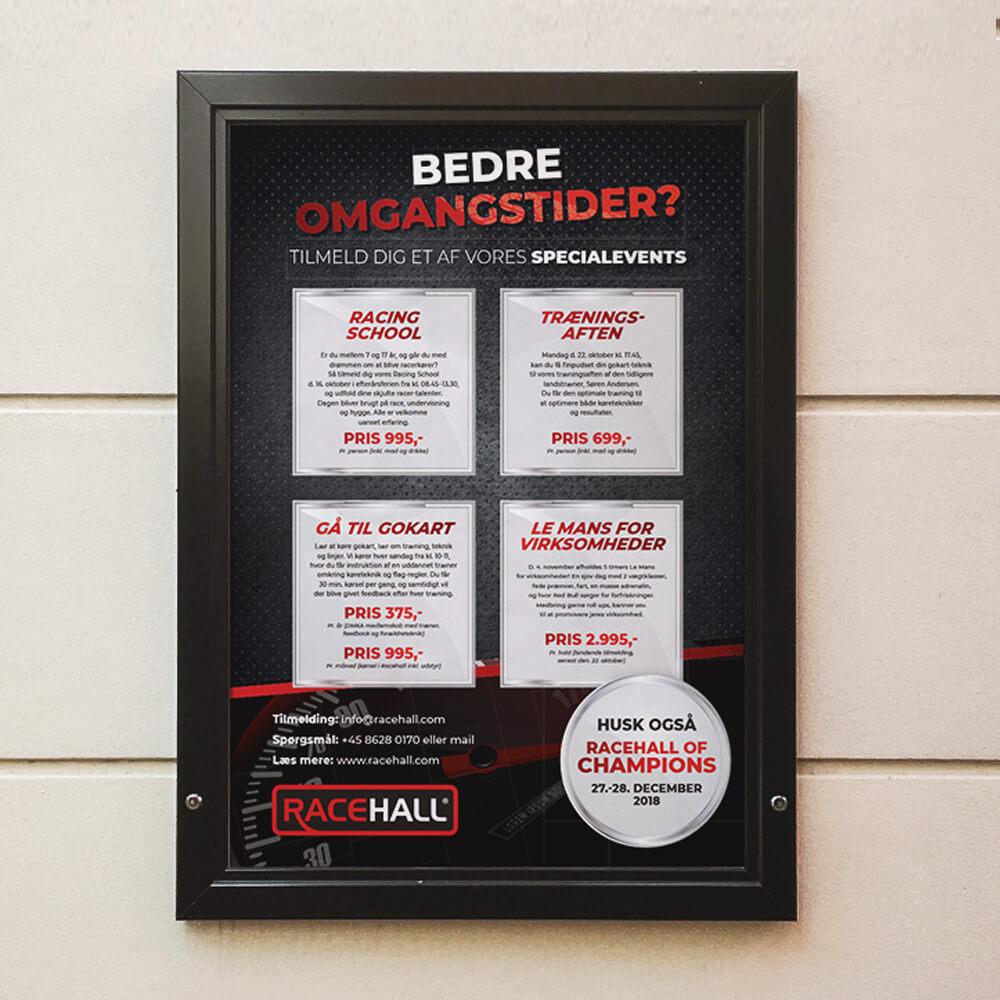 Case / Racehall gokart / Tryksager - plakater