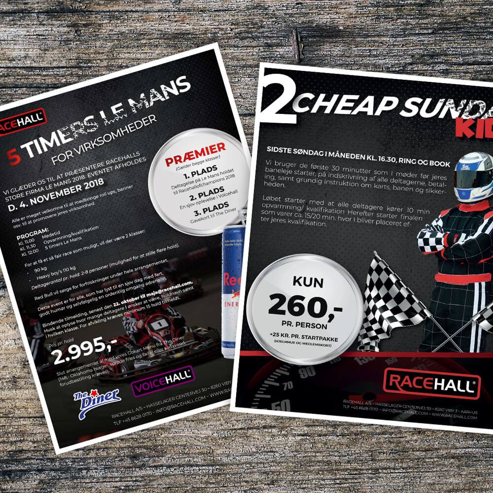 Case / Racehall gokart / Tryksager - plakat